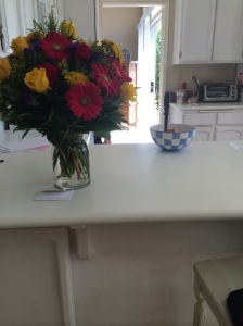 But my parents sent me some beautiful flowers, so that served as a reminder that something big had just happened.